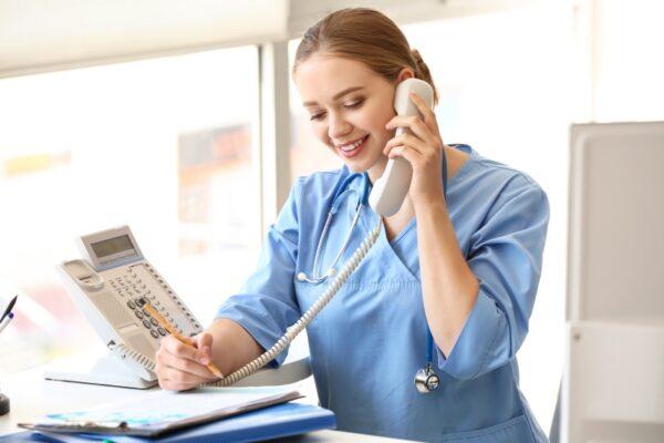 Telefonische Auskunft im Pflegeheim